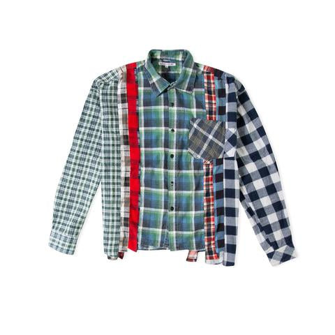 Wide 7 Cuts Flannel Shirt