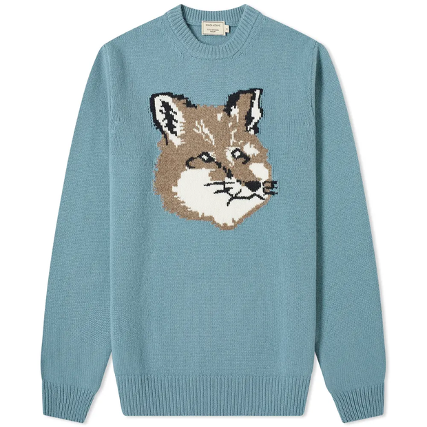 Fox Head Jacquard Pullover 'Light Blue'