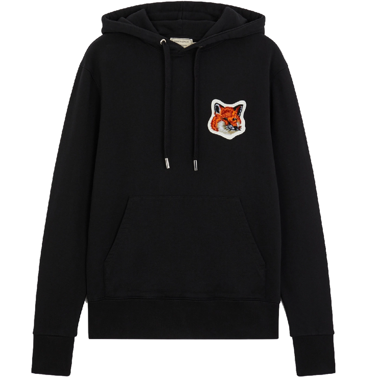 Velvet Fox Head Patch Classic Hoodie 'Black'