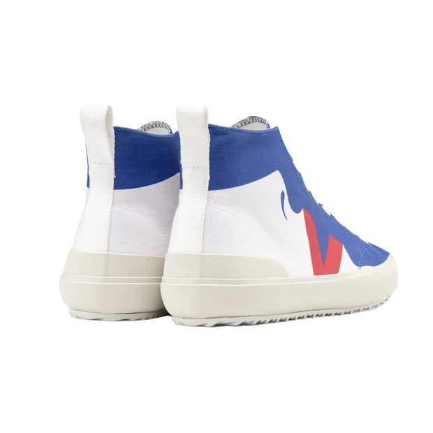 Pack Man Nova High Top Canvas Malika-Favre Lips 'White / Blue / Red'