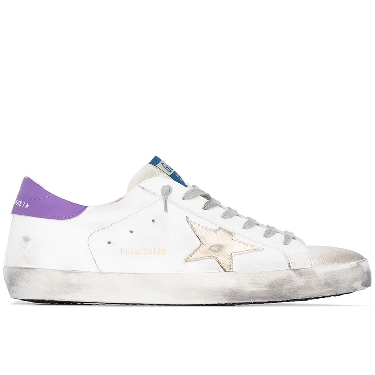 Superstar Leather Upper And Heel Laminated Star 'White / Purple'
