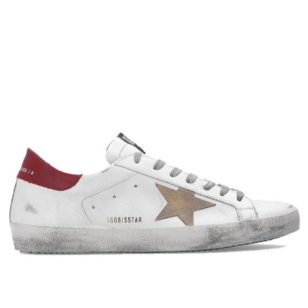 Superstar Leather Upper And Heel Suede Star 'White / Bordeaux'