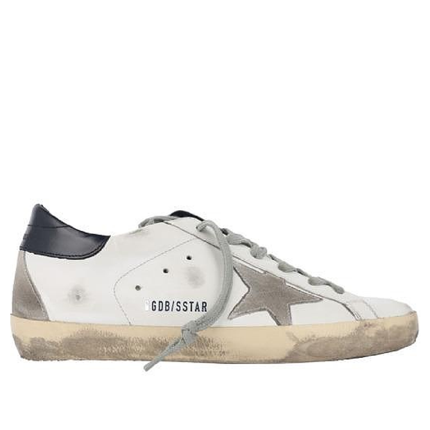 Superstar Leather Upper Suede Star Shiny Leather Heel 'White / Night Blue'