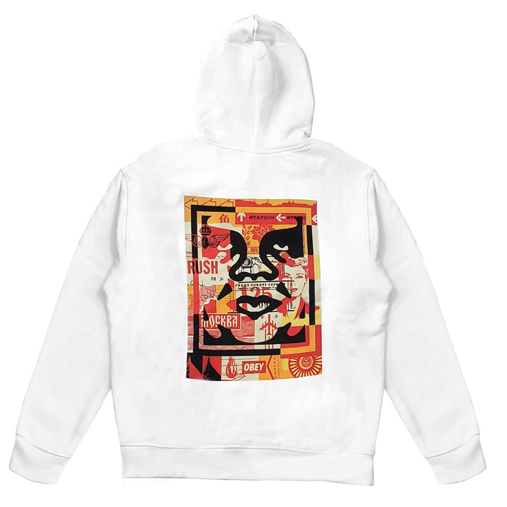 Obey 3 Face Collage Substainable 'White'