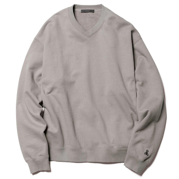 Wide V-Neck Sweat 'Gray'