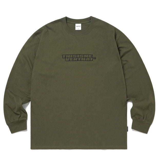 BS-Logo L/SL Top 'Olive'