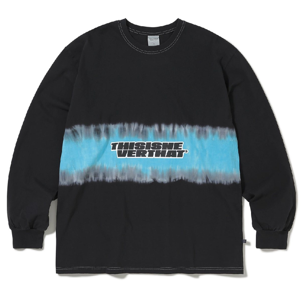 Striped Tiedye L/S Top 'Black'