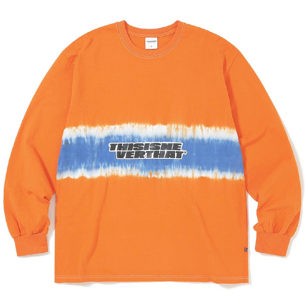 Striped Tiedye L/S Top 'Orange'