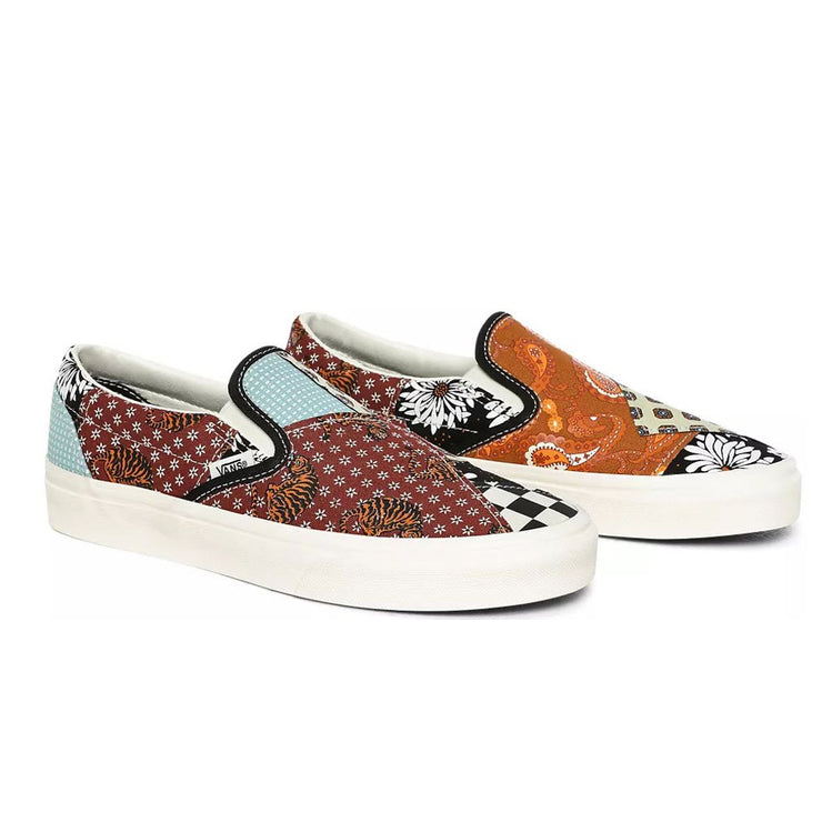 UA Classic Slip-On 'Tiger Patchwork'