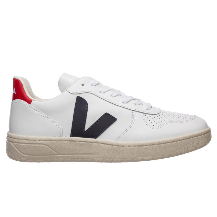 V-10 Leather 'Extra-White Black Nautico Pekin''