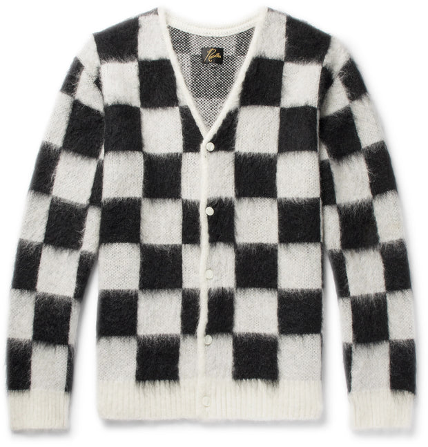 Mohair Cardigan Checkered