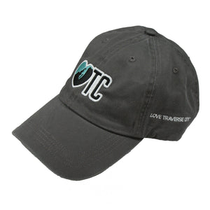 love tc baseball hat gray