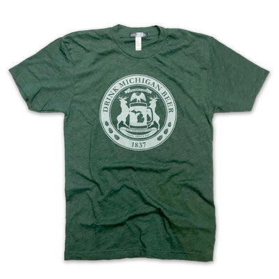 Drink Michigan Beer T-Shirt - Unparalleled Apparel