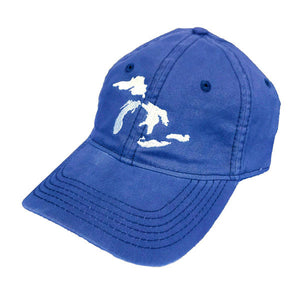 great lakes baseball hat blue