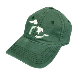 great lakes baseball hat green