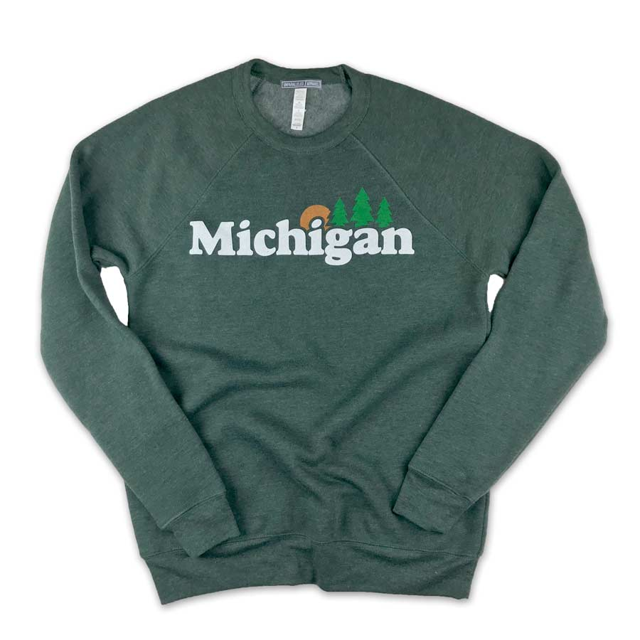 Michigan Classic Crewneck Sweatshirt - Unparalleled Apparel