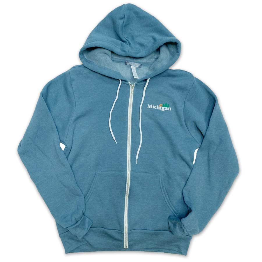 Michigan Classic Zip Hoodie - Unparalleled Apparel