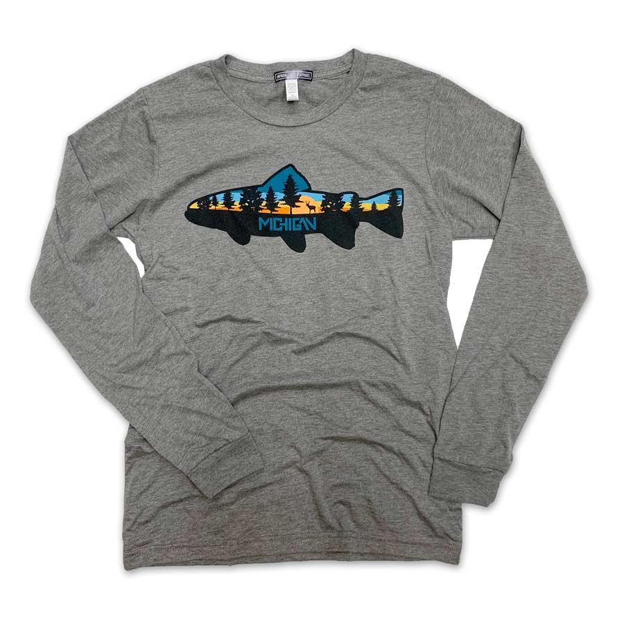 Michigan Fish Long Sleeve - Unparalleled Apparel