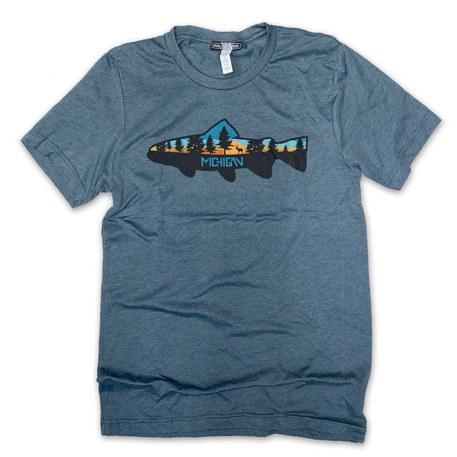 Michigan Fish T-Shirt - Unparalleled Apparel