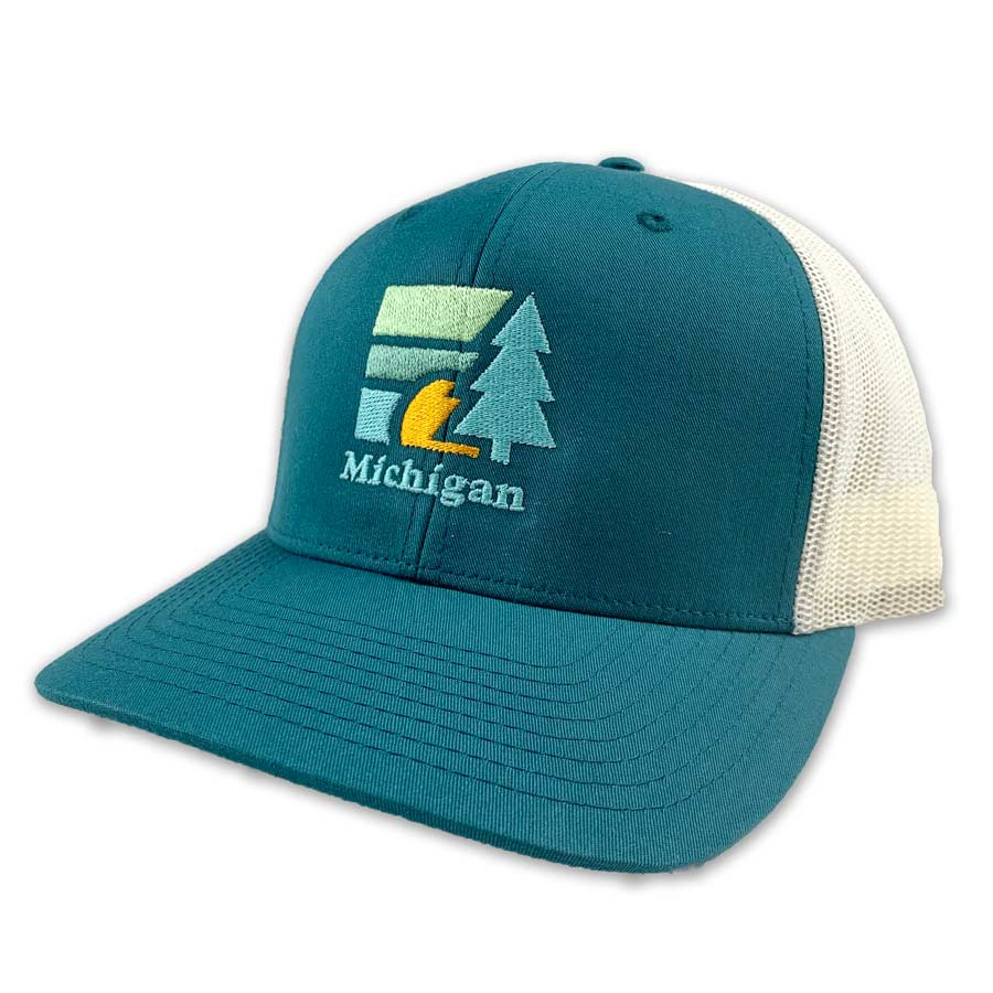 Michigan Retro Tree Hat - Unparalleled Apparel