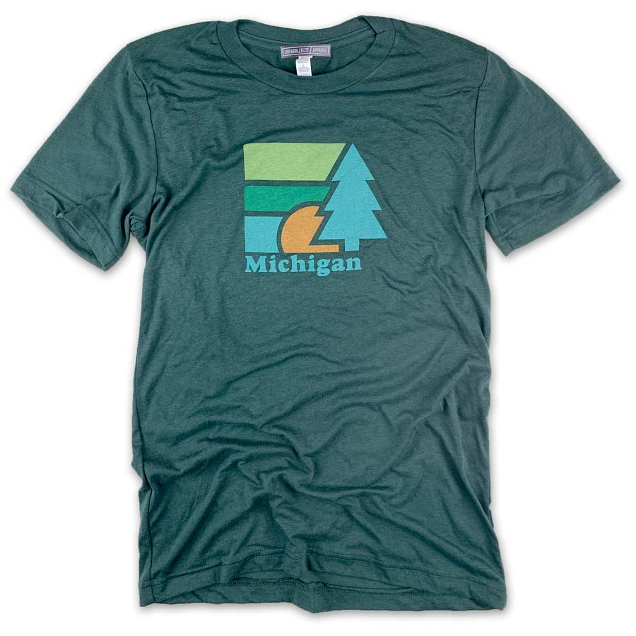 Michigan Retro Tree T-Shirt - Unparalleled Apparel