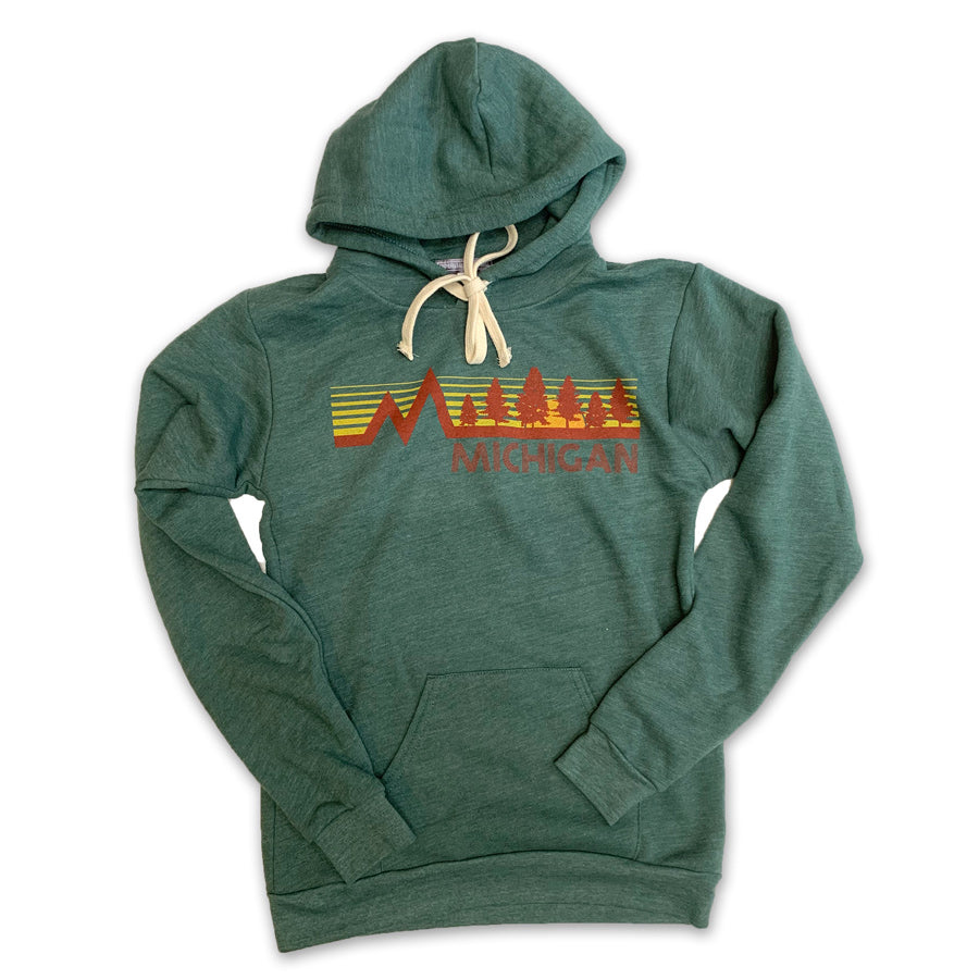 Michigan Vintage Forest Hoodie - Unparalleled Apparel
