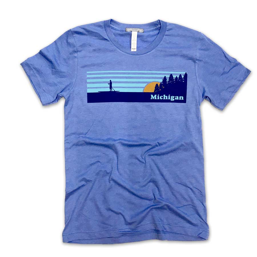 Michigan Vintage Paddleboarder T-Shirt - Unparalleled Apparel