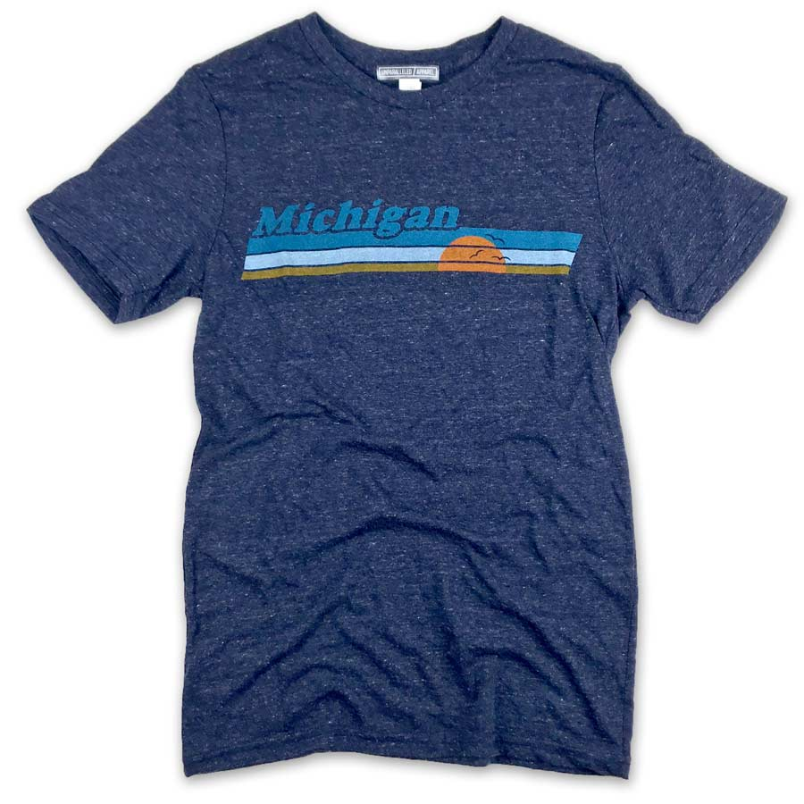 Michigan Vintage Sunset T-Shirt - Unparalleled Apparel