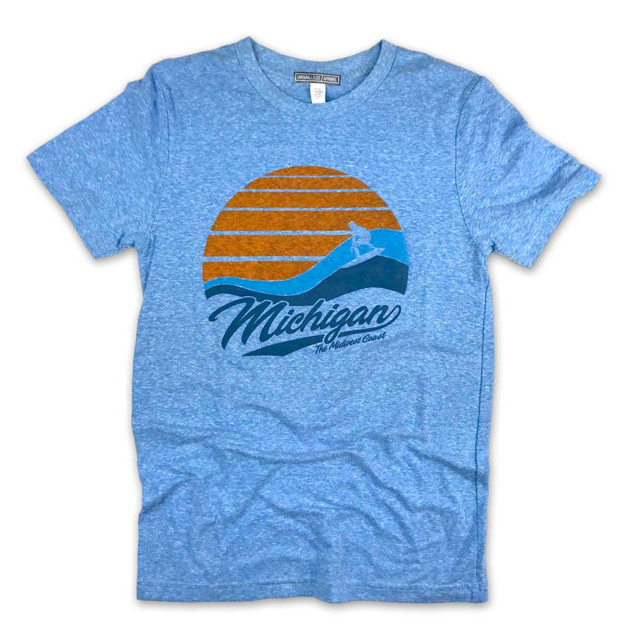 Michigan Vintage Surf T-Shirt - Unparalleled Apparel