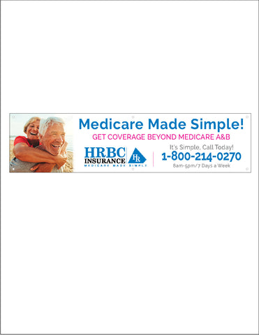 "2' x 8' ""Medicare Made Simple!"" - Banner"