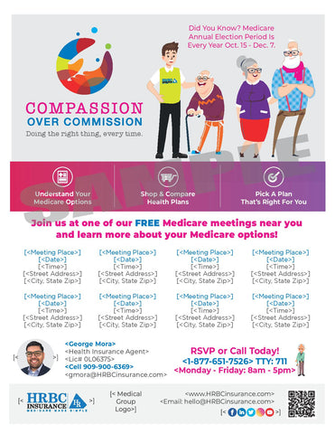 Compassion Over Commission AEP Meetings - Flyer