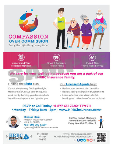 Compassion Over Commission AEP Services - Flyer