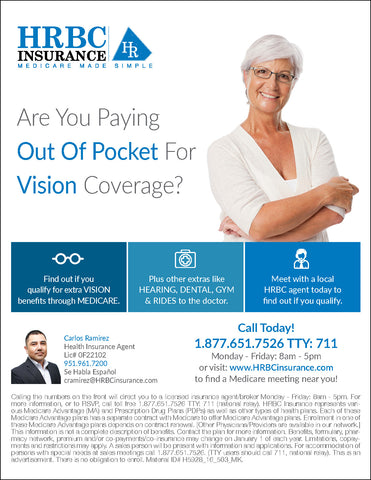 Are You Paying Out of Pocket for Vision Coverage? - Flyer