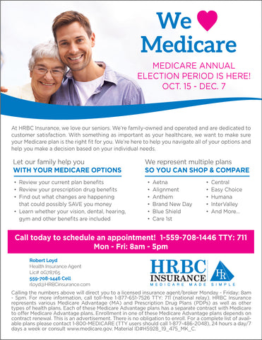 AEP We Love Medicare Generic Flyer