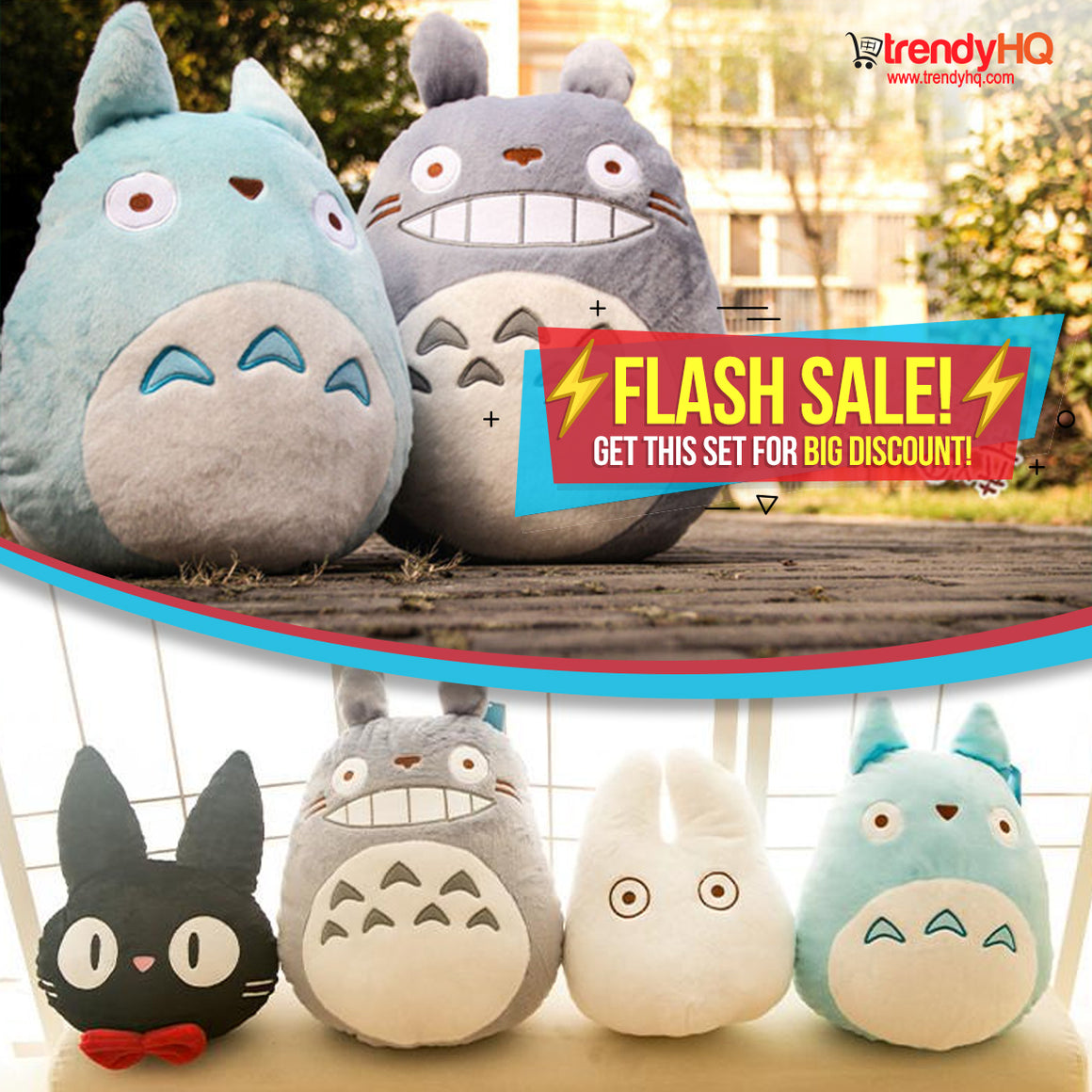 Soft & Cuddly Totoro Plush Set