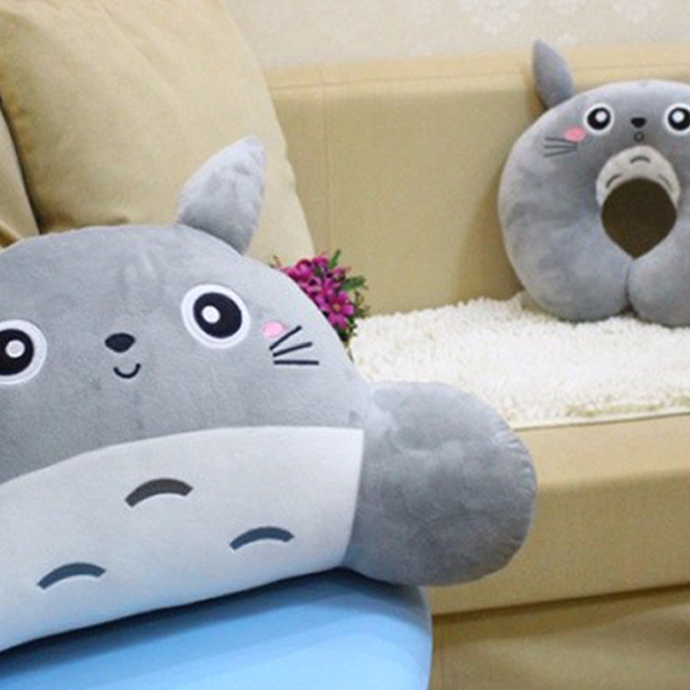 Adorable Totoro U Neck Pillow and Waist Cushion Stuffed Toy