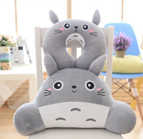 Adorable Totoro U Neck Pillow and Waist Cushion Stuffed Toy - TrendyHQ 8f020d4a9e55
