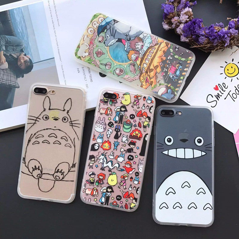 Custom Totoro Silicone iPhone Case
