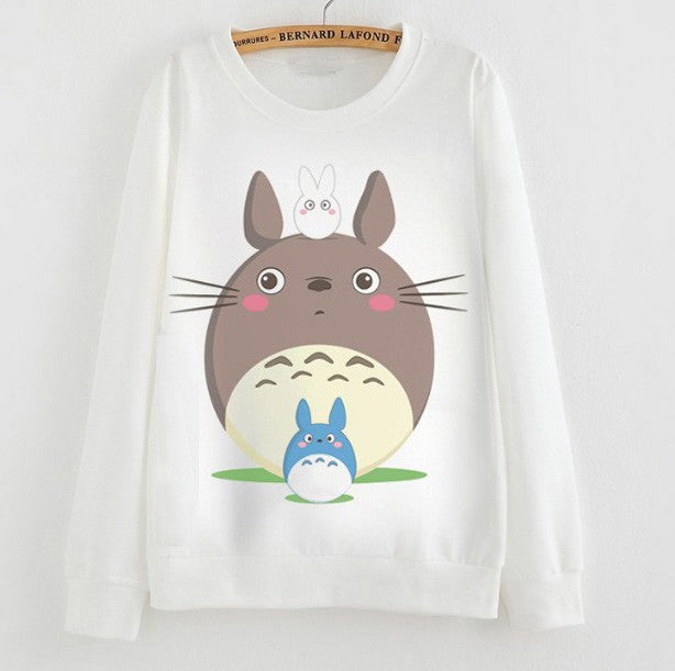 *NEW* Totoro 3D White Sweatshirt V1-V3