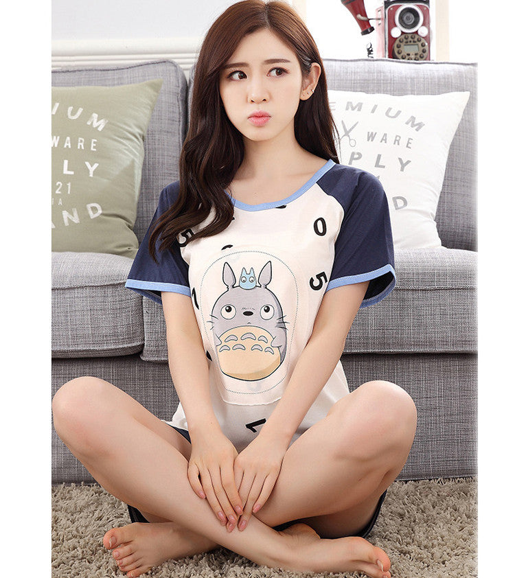 NEW Totoro Summer Fashion Couple Sleepwear