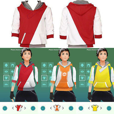 New Pokemon Go Team Trainer Tops Hoodie
