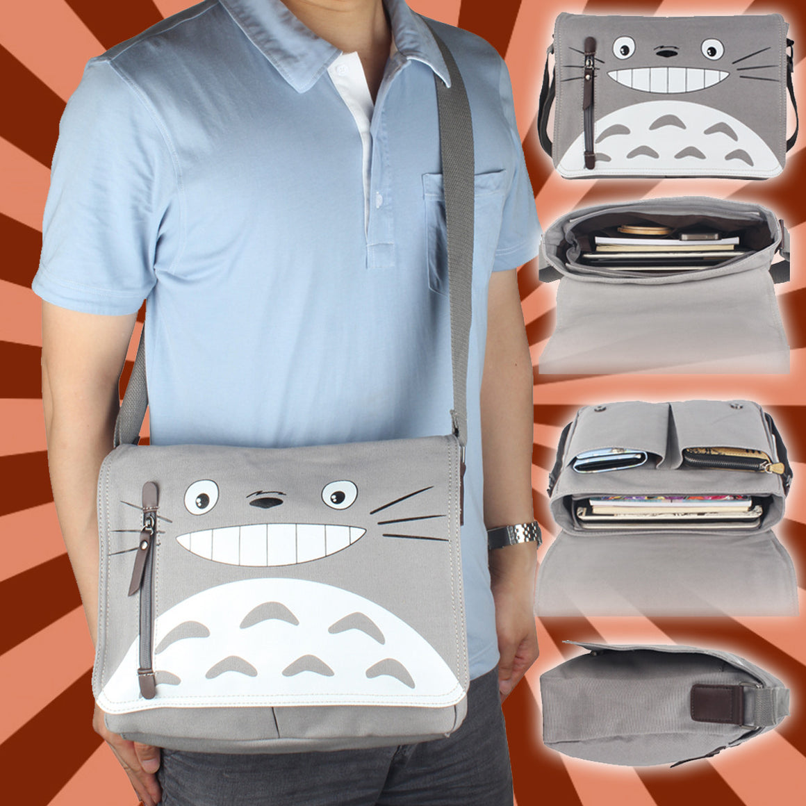 [NEW] My Neighbour Totoro Sling Messenger Bag - Free Shipping