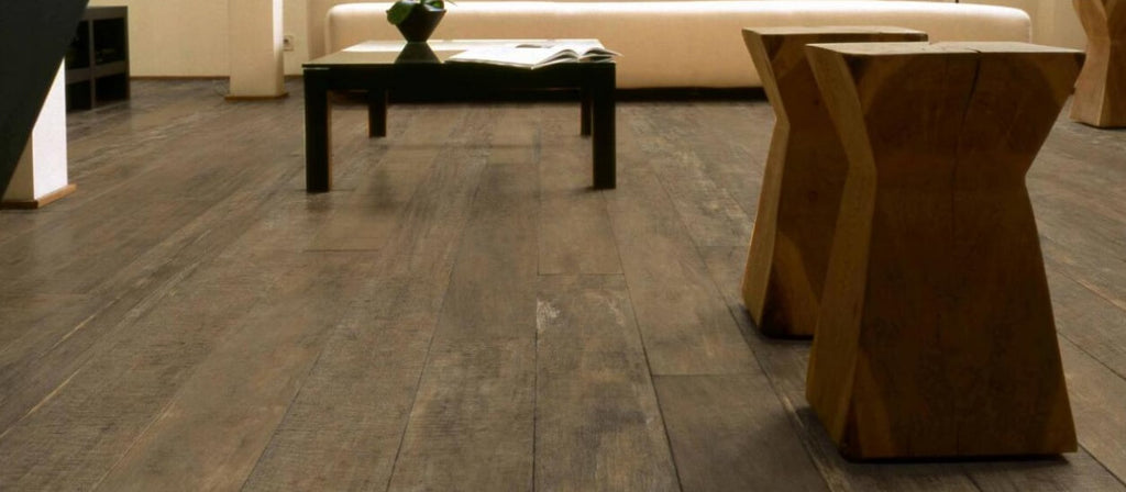 Aged Wood Effect Floor Tiles