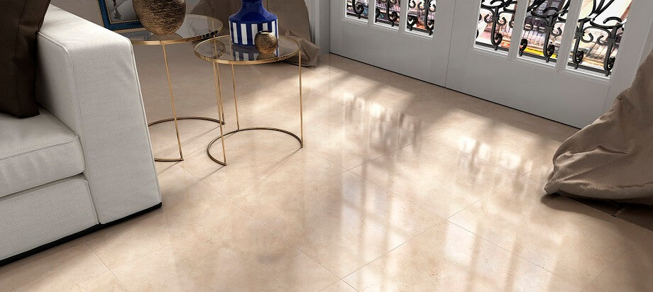 Cream Floor Tiles in UK Home