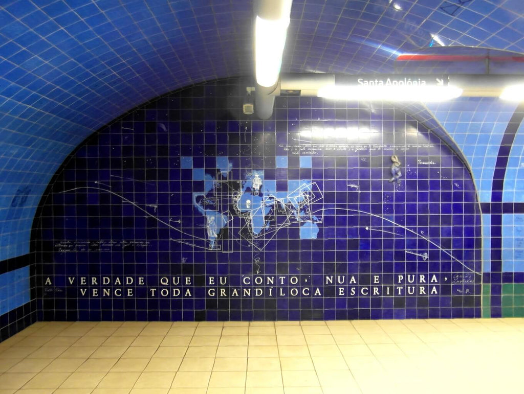 Walls Tiles in Metro Tunnel in Porugal
