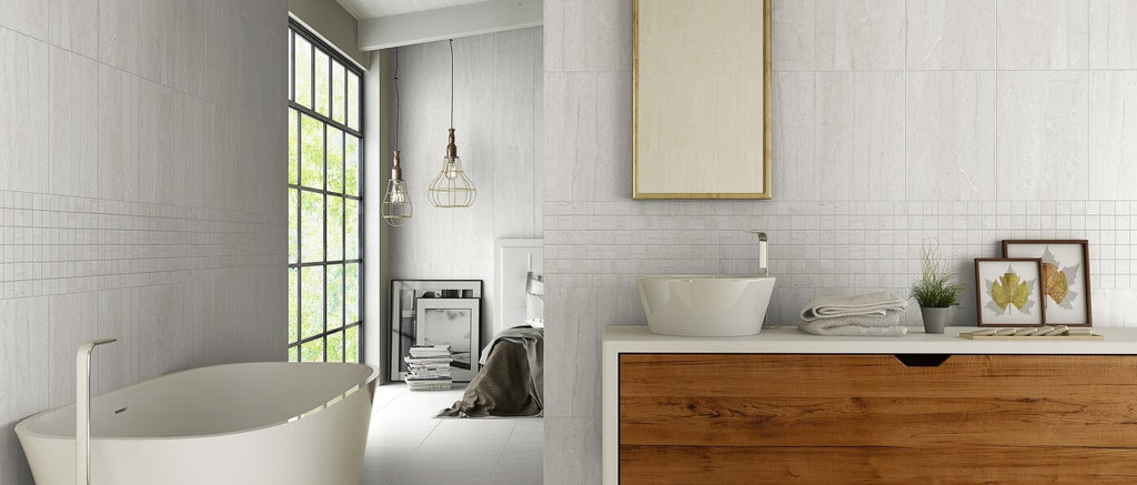 Matt Wall Tiles in Modern Bathroom