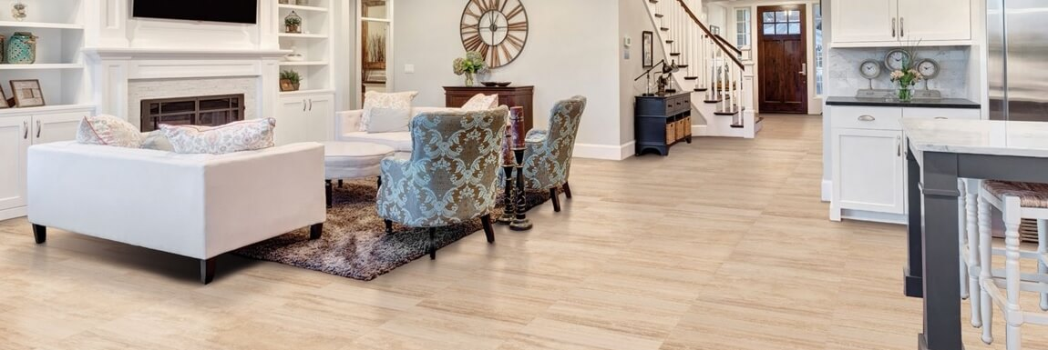 Travertine Effect Floor Tiles in Spectacular Home
