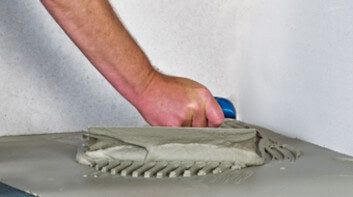 Using a Notched Trowel
