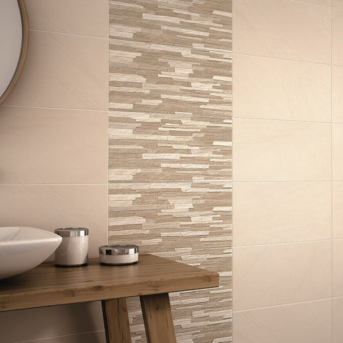 Anchorage Cream Tiles on Bathroom Wall