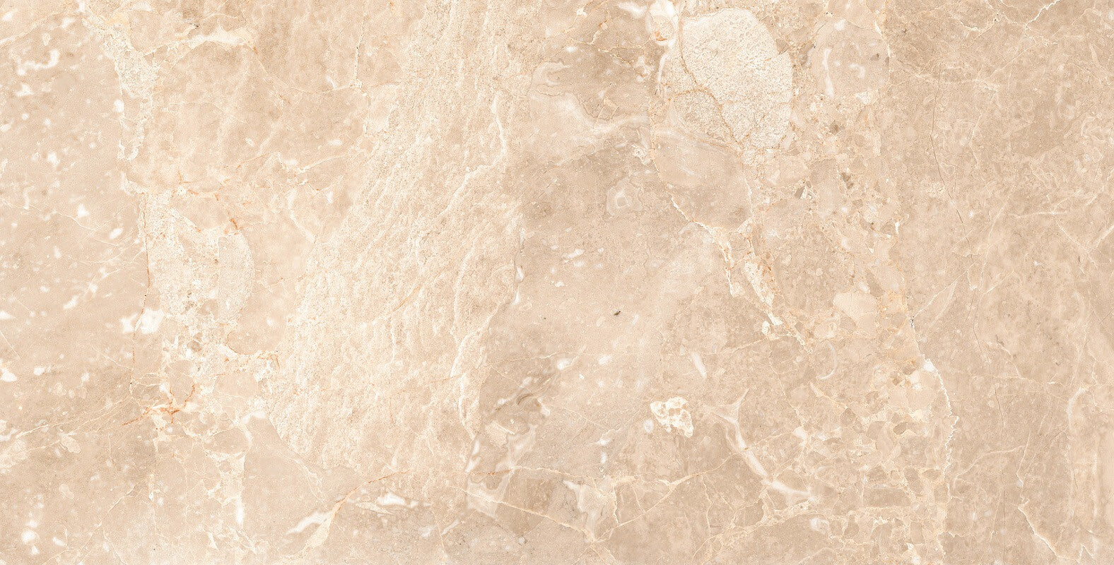 Porcelain Kitchen Tiles With An Opulent Cream Marble Effect